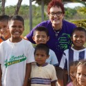 MaryAlice with children in Belize